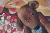 Stilleven met beer - detail