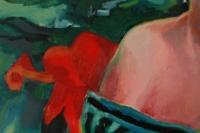 Geke in rood en groen - detail